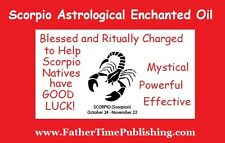 Scorpio Enchanted Magical Good Luck Oil Attracts Love Sex Money Lottery Prizes