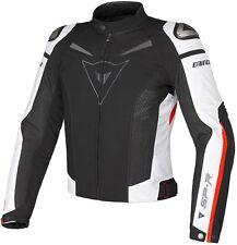 Dainese chaqueta de moto G. Super Speed Tex caballero (negro/blanco) 50