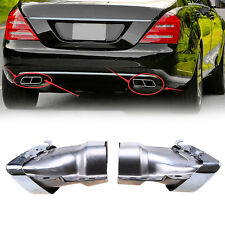 Rear Muffler Ends Pipes Exhaust Tips Fit for Mercedes-Benz W221 W164 2005-2012