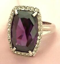 V&A Victoria & Albert Museum Ring Violet Crystal CZ Size 10 8X