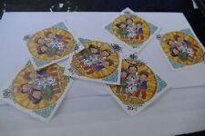 7 Mongolia used postage stamps philately postal mail Philatelic