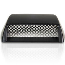 Car Front Bonnet Decorative 3D Simulation Air Flow Intake Scoop Vent Cover Black