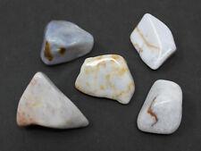 5 MEDIUM / LARGE Blue Chalcedony Tumbled Stone Crystal Healing Tumble Gemstone