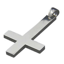 Silver 316l Stainless Steel Inverted Cross Titanium Vintage Punk Jewelry L2o6