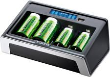 VARTA LCD Universal Akku Ladegerät Batterie AA/AAA/C/D/9V USB Geräte unbestückt
