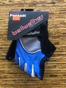 """""""New"""" BELLWETHER PURSUIT GLOVES - Size Medium Blue Cycling Half Finger"""