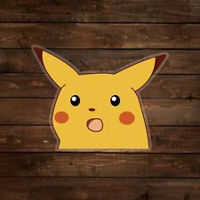 Surprised Pikachu Meme [on clear] (Pokemon) Decal/Sticker