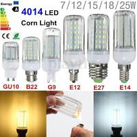 E12/E14/E27/B22/GU10/G9 4014 SMD 7W 12W 15W 18W 25W LED Corn Light Bulb Lamp