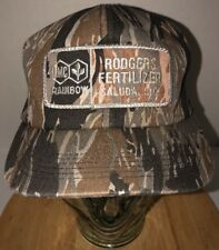 VTG IMC Rainbow Rodgers Fertilizer 80s Camo Hat Cap Snapback K-Products USA RARE