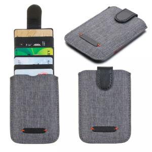 Card Holder for Back of Phone RFID Blocking 5Pull Credit Card Wallet Pocket