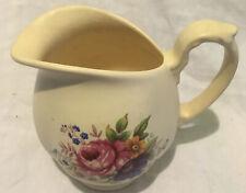 More details for vintage axe vale pottery devon floral jug 1/4 pt