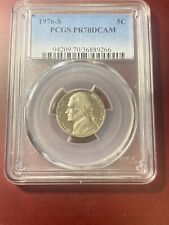 1976-S 5C PCGS PR70DCAM (PERFECT GRADE) RARE TOP POP