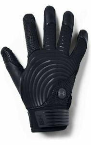 Under Armour Harper Pro Premium Leather Batting Mens Gloves Black Size M Medium
