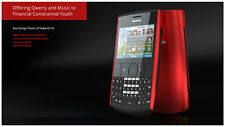 Genuine Nokia X2-01 Black/Red Qwerty Keypad Mobile with Warranty