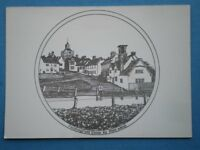 POSTCARD ESSEX FINCHINGFIELD VIEW UP THE STREET PENCIL SKETCH