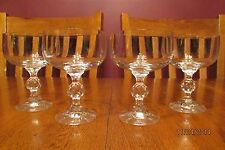 "Set Of Four Bohemian Crystal ""Claudia"" Champagne Glasses ~ Faceted Ball Stem"