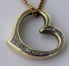 Herz Anhänger  Gelbgold 585  -  Herz mit Brillantbesatz
