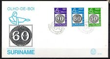 Suriname - 1993 Stamp exhibition Brasiliana - Mi. 1450-52 clean FDC