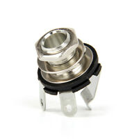 Mono Jack Socket for Electric Guitar Bass 1/4 inch 3 Terminals Copper Chrome