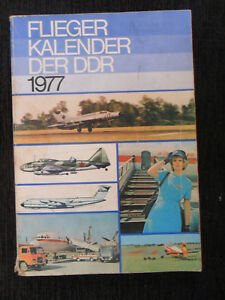"""6535 EAST GERMAN/DDR/GDR/NVA COLD WAR """" AIRCRAFT 1977 Calendar book"""""""