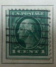 1 cent green Washington US Stamp #544 1c Perf 11 Used