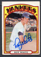 Roy White #340 signed autograph auto 1972 Topps Baseball Trading Card