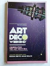 ART DECO WEEKEND JAN 18-20, 2013 OCEAN DRIVE-MIAMI BEACH SOUVENIR WHATS ON GUIDE