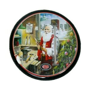 2011 Case Knives Santa Claus Thermometer Wall Hanging Tin RJ McDonald