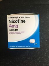 Sainsbury's 4mg Nicotine Lozenges - 144 - Expiry 09/21 Quit Smoking - Flatpacked