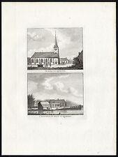 Antique Print-RIJSOORD-CHURCH-COURT-RIDDERKERK-NETHERLANDS-Bendorp-Bulthuis-1790