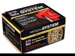 "Gorilla The System Wheel Lock Kit 12-1.50 Thread, 13/16"" (21mm) Chrome 71634N"