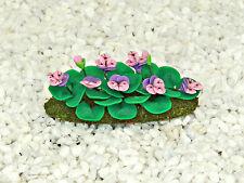 Viola Flower Bed ~ Miniature Flowers ~ Fairy Garden ~ Handmade ~ Dollshouse