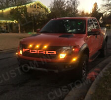 Red LED Light Up Grille Letters Sticker Decals Fits 2010-2014 Ford Raptor F-150