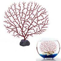 Aquarium Kuenstliche rote Korallen Unterwasser Pflanzen Ornament Dekorieren