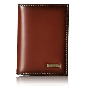 Nautica Men's Leather Trifold Wallet Brown One Size