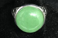 925 Sterling Silver Jade Ring - Size N Seller Ref 45