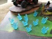 10x Clear Aqua/Light Blue Small (17mm) Resin Crystals for Modeling