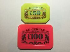 0007 - Le Cercle Club £50 and £100 plaques. Later Dr No style numbered 0007!!