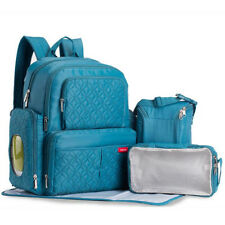 AU Blue Pram Diaper Bag Nappy Mummy Backpack Baby Tote Maternity Stroller Bags
