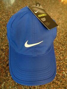 Nike YOUTH Featherlight Hat Strapback Blue Running Tennis Dri-fit 739376-484