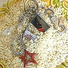 Charms Silver Tone Cowboy Boot Vintage Macy's Western Key Holder with