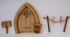 Fairy Fata Biancheria 3d porta in legno Craft KIT con linea di lavaggio e accessori