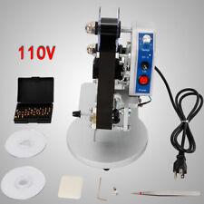 Manual Hot Foil Stamping Printer Thermal Ribbon Date Coding Printer 1 3 Row Usa