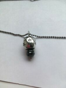 """Lovelink by Aagaard Silver Rhodium Plated 16"""" Chain/Bead Holding Pendant RRP £75"""