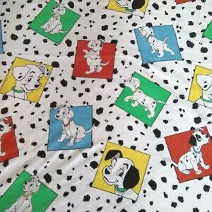 Disney 101 Dalmations Twin Flat Sheet Cutter Craft Irregular Vintage 1992 Bibb