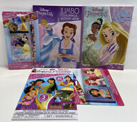 5pc Disney Princess Jumbo Coloring Activity Books Crayons & Sticker Story Belle