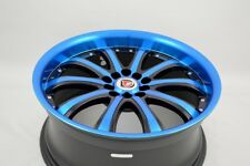 18 blue Wheels Rims Camry Accord TLX Avenger TT Legend RDX Eclipse 5x100 5x114.3