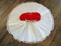Vtg I LOVE YOUNGSPORT Dress Sz 4 Girls Red Velvet Bodice White Tulle Skirt EUC