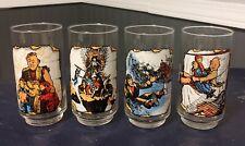 Set of 4 1985 The Goonies Movie Glasses