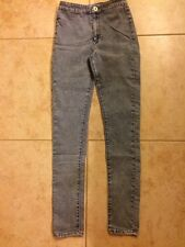 NWOT Bullhead Denim Co Uber High Rise Skinniest Gray Colored Jeans Womens Size 3